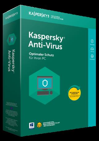 Kaspersky Anti-Virus 2018 Upgrade, 3 PC - 2 Jahre, Download