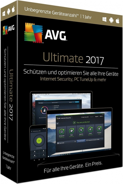 AVG Ultimate 2017, 1 User - 2 Jahre - beliebig viele Geräte, Download