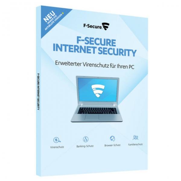 F-Secure Internet Security 2017 Upgrade, 3 PCs - 1 Jahr, Download