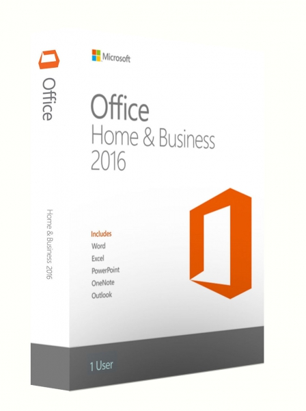 Microsoft Office 2016 Home and Business, PKC -NEU-