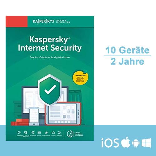 Kaspersky Internet Security 2019 - Multi-Device, 10 Geräte - 2 Jahre, ESD