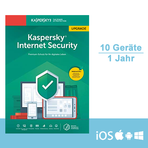 Kaspersky Internet Security 2019 Upgrade - Multi-Device, 10 Geräte - 1 Jahr, ESD