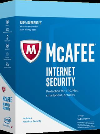 McAfee Internet Security 2017, 10 Geräte - 1 Jahr, Download