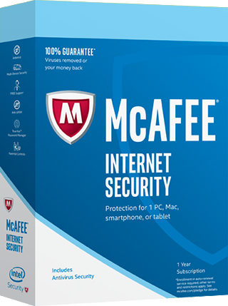 McAfee Internet Security 2017, 3 Geräte - 1 Jahr, Download