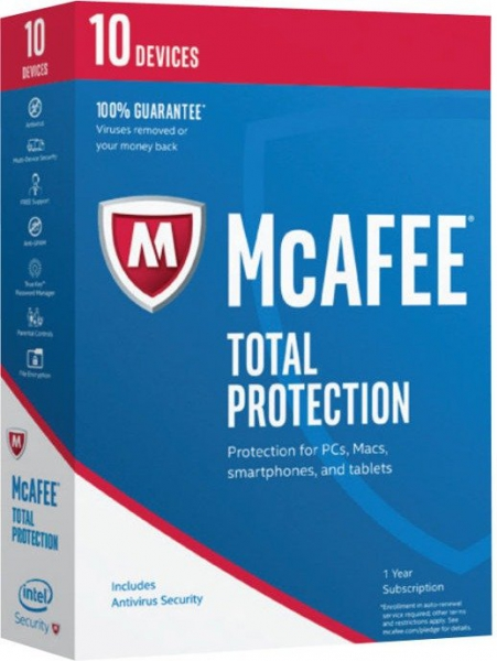 McAfee Total Protection 2017, 10 Geräte - 1 Jahr, Download