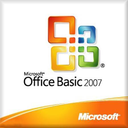 Microsoft Office 2007 Basic, V2, OEM mit Datenträger
