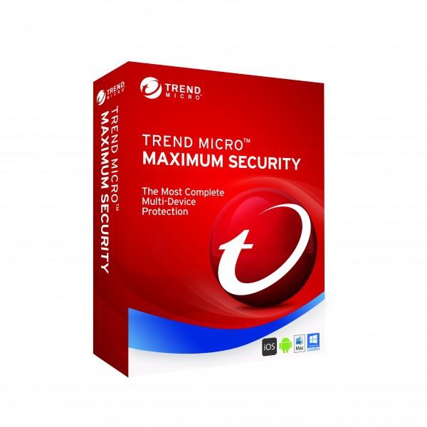 Trend Micro Maximum Security 2019, 3 Geräte - 2 Jahr, ESD, Download