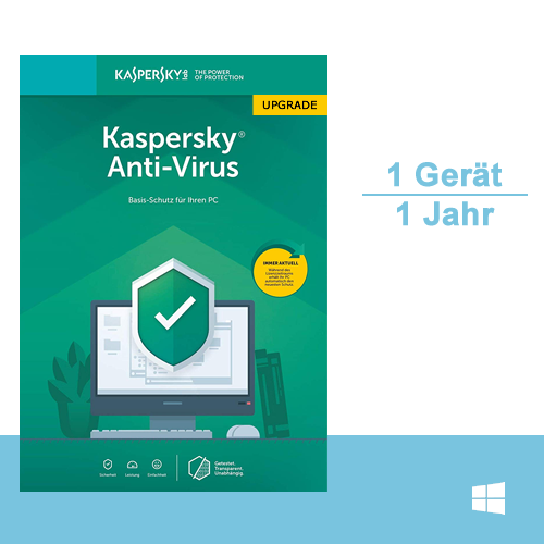 Kaspersky Anti-Virus 2019 Upgrade, 1 PC - 1 Jahr, ESD, Download
