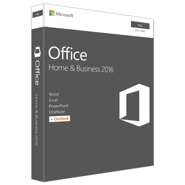 Microsoft Office 2016 Home and Business für MAC, PKC -NEU-