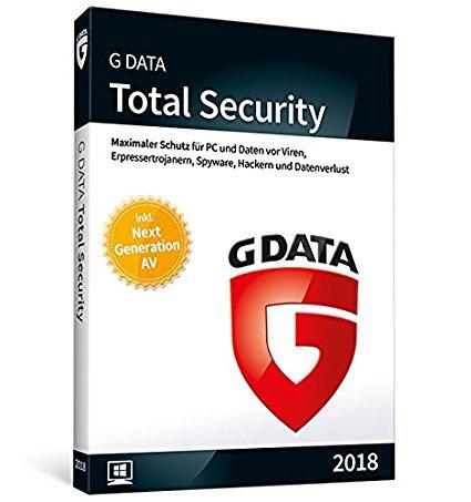 G DATA Total Security 2018, 3PC - 1 Jahr, Download