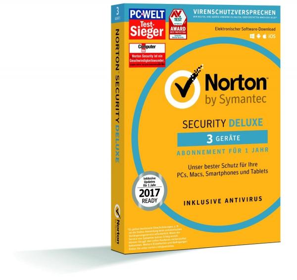 Symantec Norton Security Deluxe 3.0, 3 Geräte - 1 Jahr, Download Win/Mac/Android