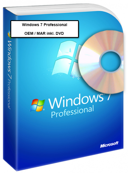 Windows 7 Professional OEM inkl. DVD - 32-bit
