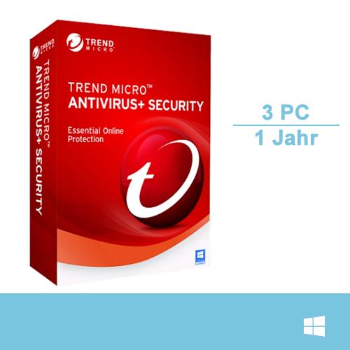 Trend Micro Antivirus+ Security 2017, 3 PC - 1 Jahr, Download