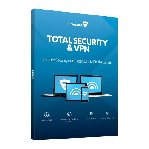 F-Secure Total Security und VPN 2018, 3 Geräte - 1 Jahr, Download