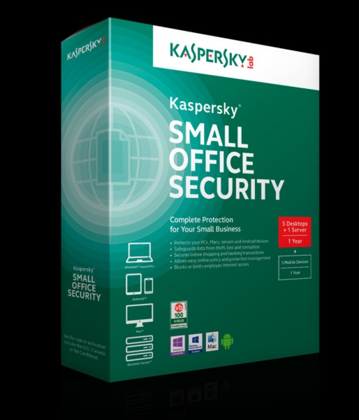 Kaspersky Small Office Security 5, 5 PC + 5 Mobile + 1 Server - 1 Jahr Win, Download