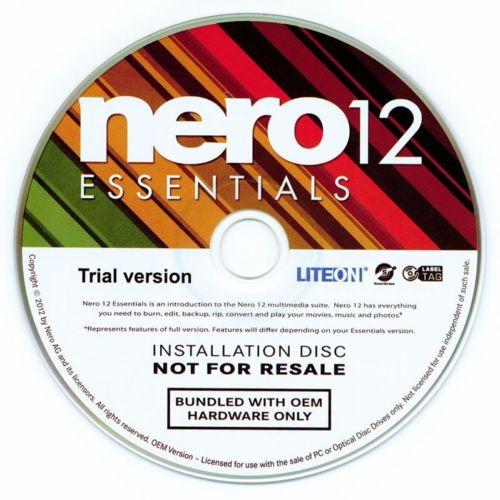 Nero 12 Essentials OEM, CD/DVD *NEU* - Brennsoftware