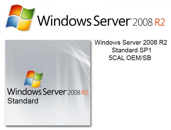 Microsoft Windows Server 2008 Standard R2 SP1, inkl. 5 CAL, OEM/SB