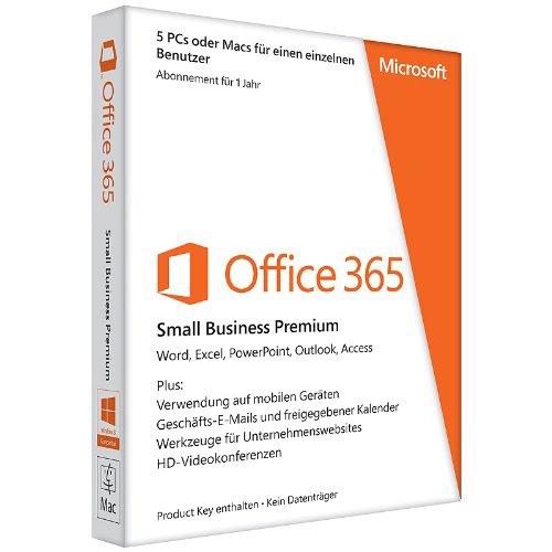 Microsoft Office 365 Business Premium, 5 PCs/MACs- 1 Jahr, Download