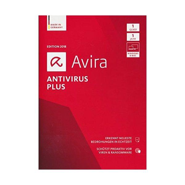 Avira Antivirus Plus 2018, 1 Gerät - 1 Jahr, Download