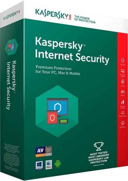 Kaspersky Internet Security 2018 Upgrade Multi-Device, 3 Geräte - 2 Jahre, Download
