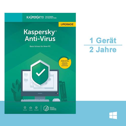 Kaspersky Anti-Virus 2019 Upgrade, 1 PC - 2 Jahre, ESD, Download
