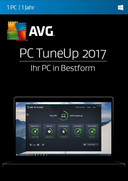 AVG PC TuneUp 2017, 3 Geräte - 1 Jahr, Download, Win