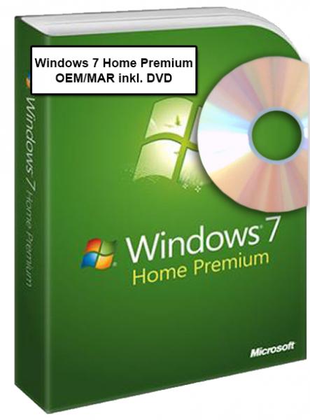 Windows 7 Home Premium OEM inkl. DVD - 32-bit