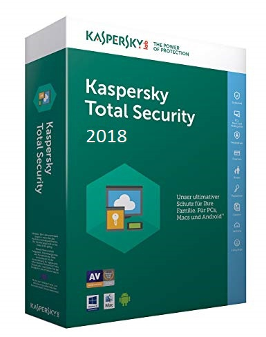 Kaspersky Total Security 2018 Multi-Device, 10 Geräte - 2 Jahre, Download