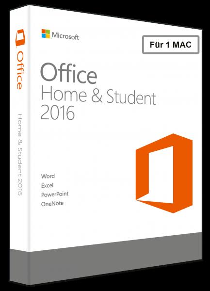 Microsoft Office 2016 Home and Student für MAC, PKC -NEU-