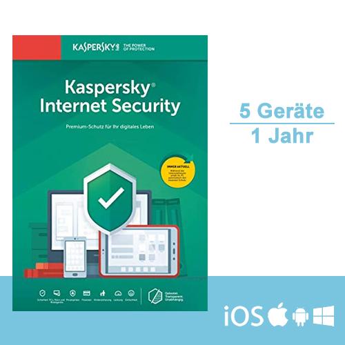 Kaspersky Internet Security 2019 - Multi-Device, 5 Geräte - 1 Jahr, ESD, Download