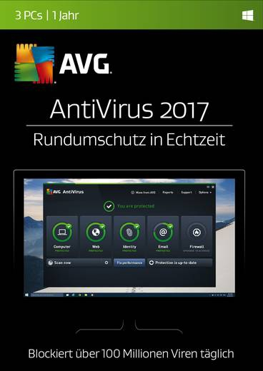 AVG Anti-Virus 2017, 1 PC - 1 Jahr, Download