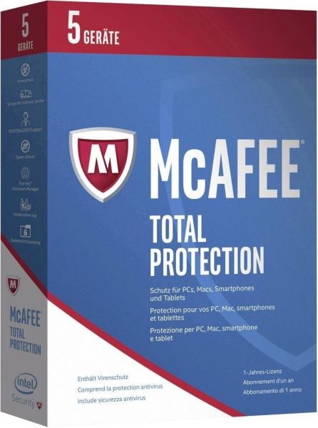 McAfee Total Protection 2017, 5 Geräte - 1 Jahr, Download